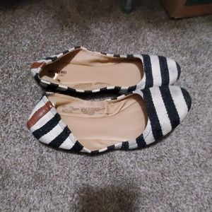 Definitely well loved striped flats